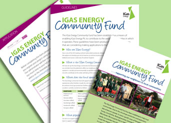 IGas Community Fund forms and leaflet